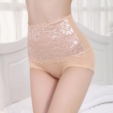 Stretchy High Waist Shaper Lace Brief Panties Underwear(5pcs set- mix color)