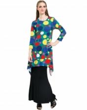Fashion Polka Dots Asymmetric Big Top