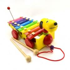 Puppy Xylophone Wodden Pull Toy -BT25