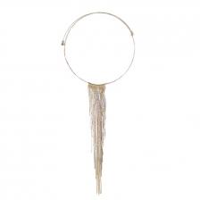 Gold Color Tassel Alloy Necklace 30cm - NL306_02