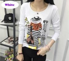 Korean Style Casual Women Long Sleeve T-Shirt