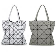 Gemeotry Tote Bag 6x6 Plaids