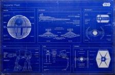 Framed Poster: Star Wars Imperial Fleet Blueprint - Pyramid International Poster (61 cm X 91.5 cm)