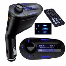 Car MP3 Player bluetooth kit FM Transmitter Modulator USB MMC LCD