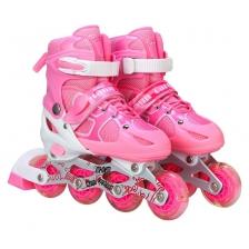 Kids Mann Card Road Outdoor Sport Inline Skater (Pink) (L)