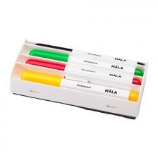 Whiteboard Color Pen with Eraser- Practical Case (4 pens & 1 eraser)