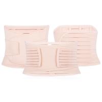 3PCS MATERNITY POSTNATAL BELT BELLY BAND SLIMMING SHAPERS UNDERWEAR FOR WOMEN (STRIPE PATTERN RED COLOR, SIZE M/L/XL/2XL)