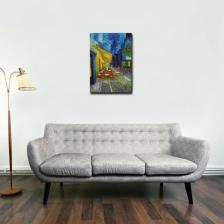 "24""x36"" Portrait Canvas Print (Cafe Terrace At Night)"