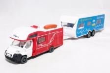 Affluent Town 1:64 Die-Cast Travel Trailer Truck Caravan Red Color Model New