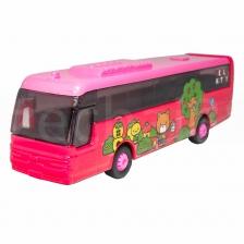 Sanrio Hello Kitty Die-Cast 7 inch Travel Bus Pink Model Genuine Produ