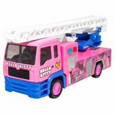 Sanrio Hello Kitty Die-Cast 6 inch Fire Ladder Truck Pink Genuine