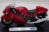 WELLY Die Cast Car Red Suzuki Hayabusa 1/18 Collection