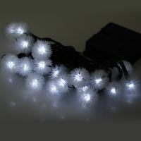 CHRISTMAS TREE DECORS 5M 20 LED SOLAR STRING (WHITE)