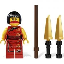 BELA LEGO 2172 Ninjago Ninja Nya Building Block Spin Top Gyro Toys Bricks Childrean Educational Toy