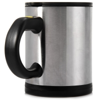 400ML DOUBLE INSULATED SELF STIRRING MUG ELECTRIC COFFEE CUP (BLACK)