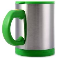 400ML DOUBLE INSULATED SELF STIRRING MUG ELECTRIC COFFEE CUP (GREEN)