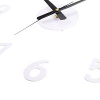 SANGTAI6168S CREATIVE 3D MUTE DIY DIGITAL WALL CLOCK DECORATIVE (WHITE)