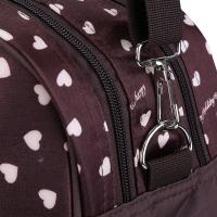 WATERPROOF MULTIFUNCTIONAL HEART PRINTED BABY DIAPER BAG MUMMY HANDBAG (COFFEE)
