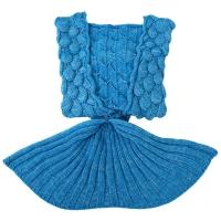 CHARMING CARTOON ANIMAL MERMAID PATTERN GIRL CHILD BLANKET SLEEPING BAG (BLUE)