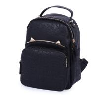 STYLISH STONE PATTERN PURE COLOR SHOULDER DIAGONAL BAG FOR LADIES (BLACK)