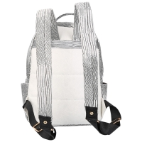 FASHION LIZARD PATTERN ZIPPER TYPE PU LEATHER STUDENT DOUBLE SHOULDER BAG FOR LADIES (LIGHT GRAY)