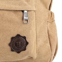 FASHION RETRO BACKPACK RUCKSACK LAPTOP SHOULDER TRAVEL CAMPING BAG (KHAKI)