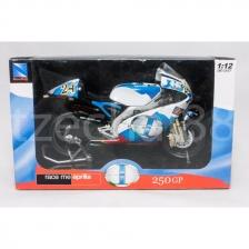 NewRay 1:12 Die-Cast Aprilia 250 GP Motorcycle White Color 2 Model Collection