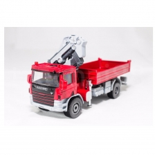 Kaidiwei 1:50 Die Cast Ategowith Crane Truck Red / Blue Metal Model Collection