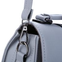 THREE FEATHER LADY FASHIONABLE ARROW BELT MAGNET BUTTON SHOULDER MESSENGER BAG (GRAY)