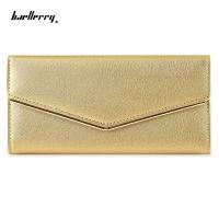 BAELLERRY WOMEN PARTY BUSINESS DETACHABLE CASH CARD HOLDER CLUTCH BAG WALLET (GOLDEN)