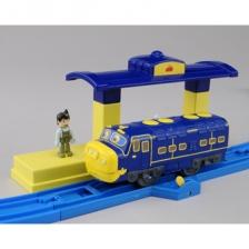 Chuggington Vee Colorful FLEXI Curved Rail (1-Car + Oval Track) Set 2