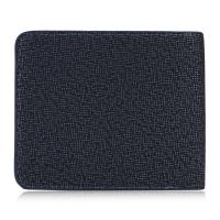 MEN PLAID PATTERN SOFT HORIZONTAL ZIPPER CLUTCH WALLETS (BLUE)