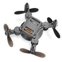 Z201YS MINI FOLDABLE RC DRONE RTF WIFI FPV / 0.3MP CAMERA / 2.4GHZ 4CH 6-AXIS GYRO (SILVER)