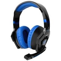 ANTI-NOISE COLORFUL LIGHT STEREO 3PCS 3.5MM USB PLUG GAMING HEADPHONES HEADSET (BLUE)
