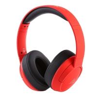 406B WIRELESS BLUETOOTH 4.0 HEADBAND MATTE TEXTURE SUPER BASS OVER-EAR MUSIC HEADPHONES (RED)