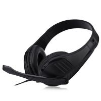 FE - 118 3.5MM PLUG COMPUTER GAMING HEADSET STEREO HEADPHONES (BLACK)
