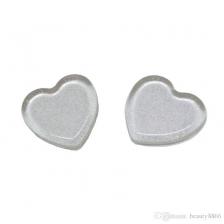 Heart shaped silver glitter Sili sponge silicone make up sponge 1 pc (beauty blender alternative)