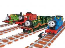 (4 1N 1) THOMAS TRAIN 4 DESIGN LEGO ORIGINAL LOZ (Thomas, Emily, Percy, James)