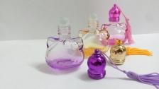 Bear perfume bottle- 3 per set- different colours (purple,yellow,pink)