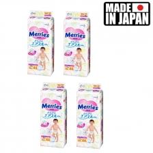 4 Pack XL44 Made in Japan Merries tape diapers (total176pcs)
