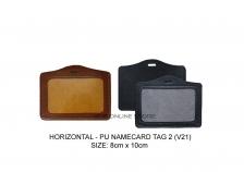 Horizontal PU Namecard Tag 2 (V21)