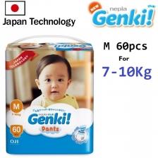 1 MEGA pack GENKI diaper pant M size 60pcs