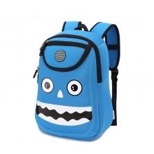 Children Backpacks Blue Monster Boy Girl School Bags For Kid (KK006)
