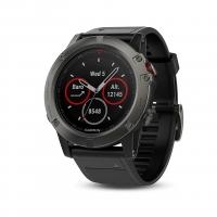 Garmin Fenix 5x Sapphire Slate Gray with Black Band Multisport GPS Watch