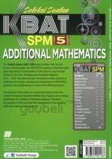 SASBADI Seleksi Soalan KBAT SPM Form 5 Additional Mathematics Bilingual