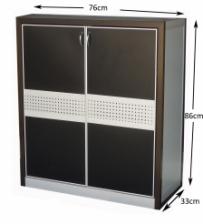 Aluminium Shoe Cabinet SC867616 Black