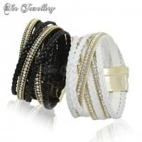 Braided Crystal Bracelet (White)