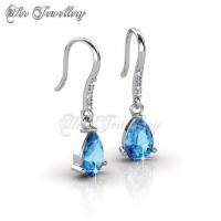 Dew Drop Set (Blue) Embellished with Crystal from Swarovski