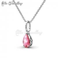 Dew Drop Set (Pink) Embellished with Crystal from Swarovski