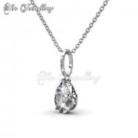Dew Drop Set (White) Embellished with Crystal from Swarovski